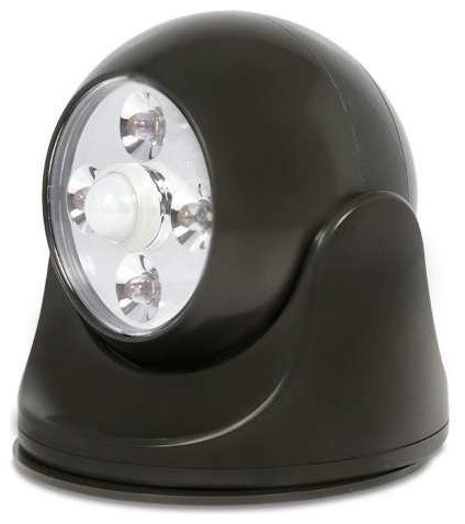 Battery Powered Motion Light Black Contemporary