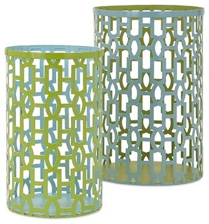 Essentials reflective metal lantern set of 2 arts for Arts and crafts candle sconces