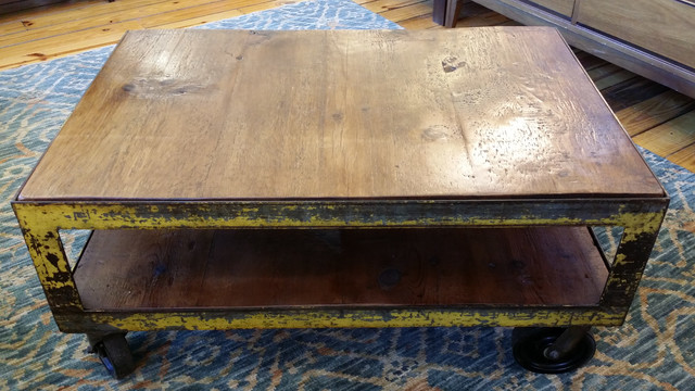 Farmhouse gear reclaimed wood table for Industrial farmhouse coffee table