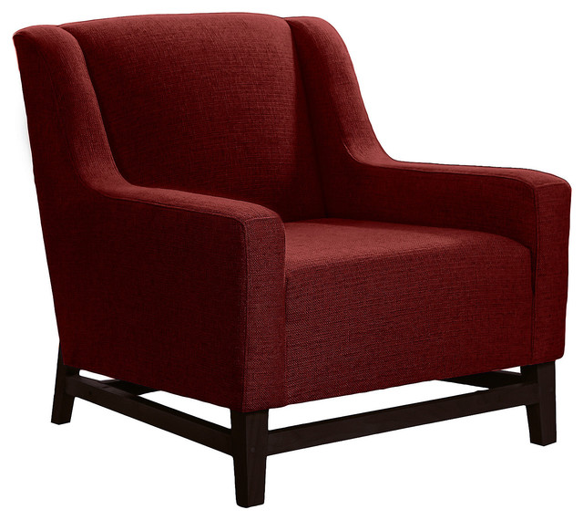 Eames molded plastic chair dining room - Room Furniture Red Accent Chair Egg Shaped Modern Accent Chair