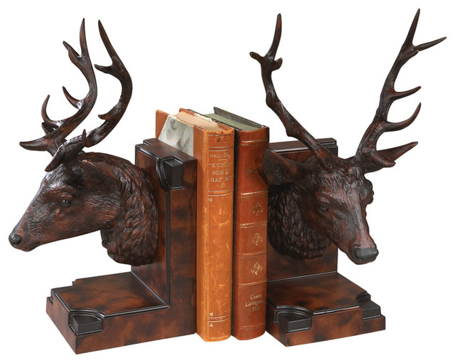 Stag head bookends rustic bookends by lodgeandcabins - Stag book ends ...