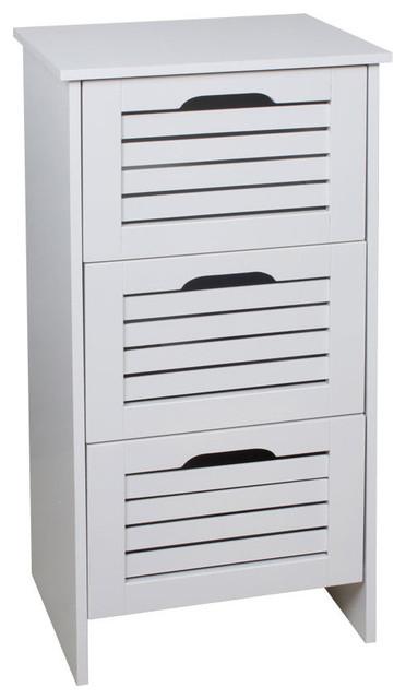 Meuble salle de bain bois blanc 3 tiroirs moderne placard et tag re de salle de bain par homy Placard de salle de bain