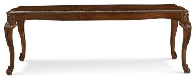 ART Furniture Old World Leg Dining Table 2 18 Leafs Medium Cherry Tr
