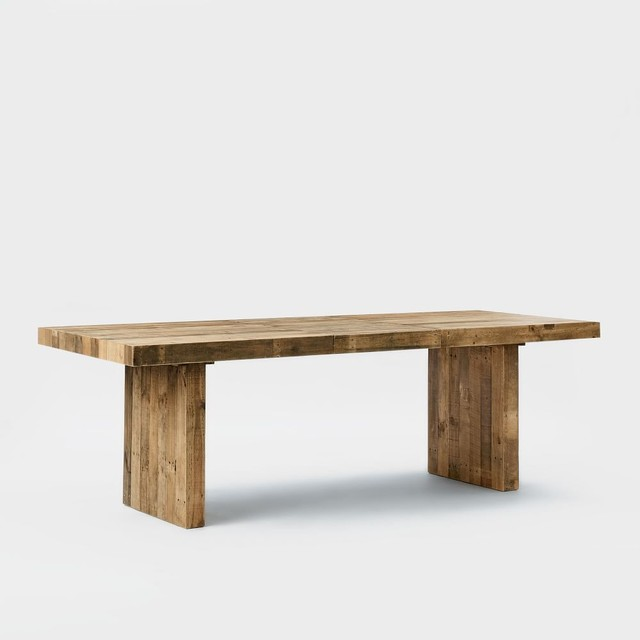 emmerson reclaimed wood expandable dining table rustic. Black Bedroom Furniture Sets. Home Design Ideas