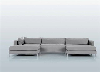 Ahlmeda double chaise sectional modern sectional sofas - The living room lounge indianapolis ...