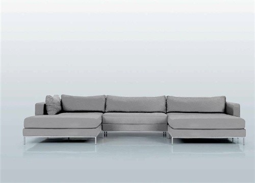 Ahlmeda Double-Chaise Sectional - Modern - Sectional Sofas ...