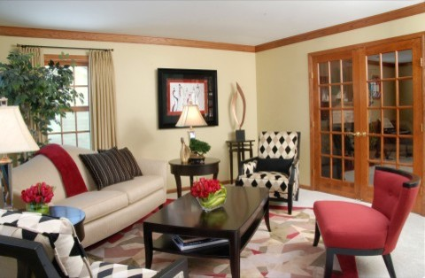 Pops Of Color Mixing Patterns Contemporary Living