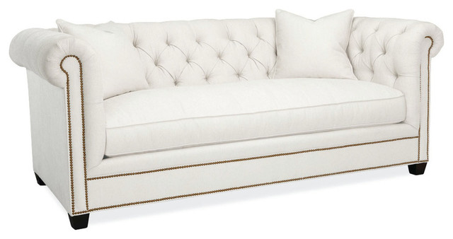 Hanne Chesterfield Sofa in Patton White Transitional Sofas