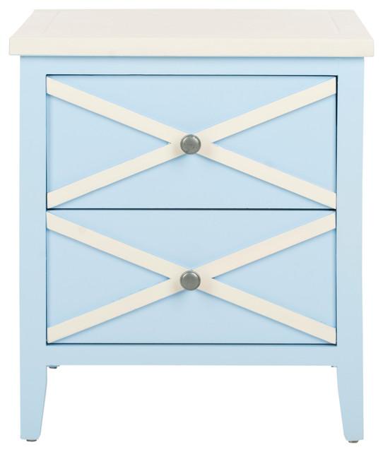 Sherrilyn light blue side table modern dining tables by layla grayce - Light blue dining table ...