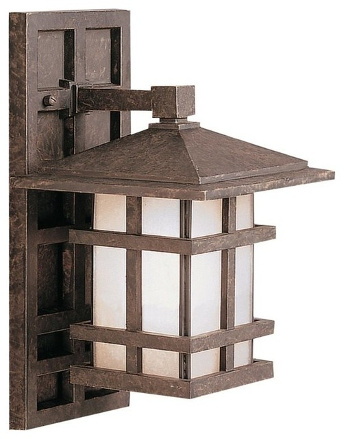 Kichler Cross Creek Arts And Crafts Mission Outdoor Wall Sconce Craftsman