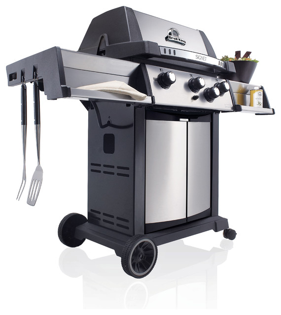 Signet 70 gas grill contemporary outdoor grills by shop chimney - Grille barbecue 70 x 40 ...