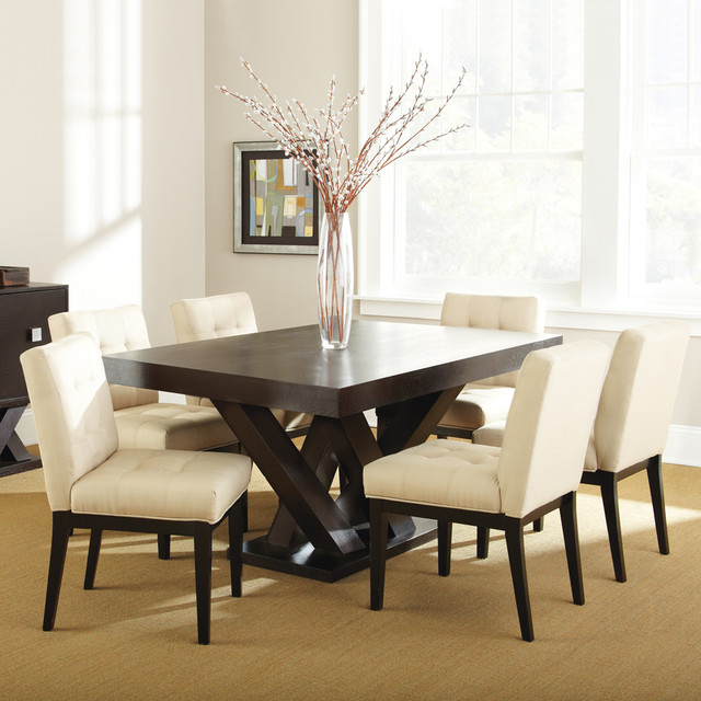 Steve Silver Tiffany 7 Piece Dining Room Set In Dark