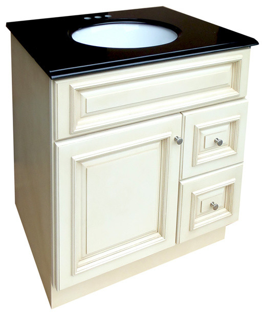 Tuscany 30x21-inch Bathroom Vanity with Black Granite Top - Contemporary - Bathroom Vanities And ...