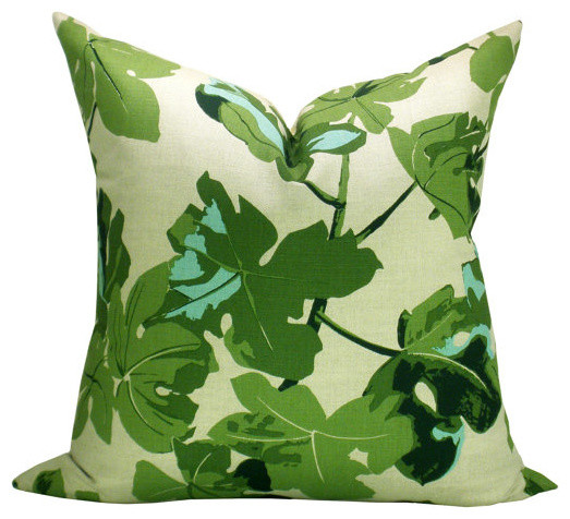 Spark Modern Pillows Etsy : Peter Dunham Fig Leaf on Natural Pillow by Spark Modern - Modern - Decorative Pillows - by Etsy