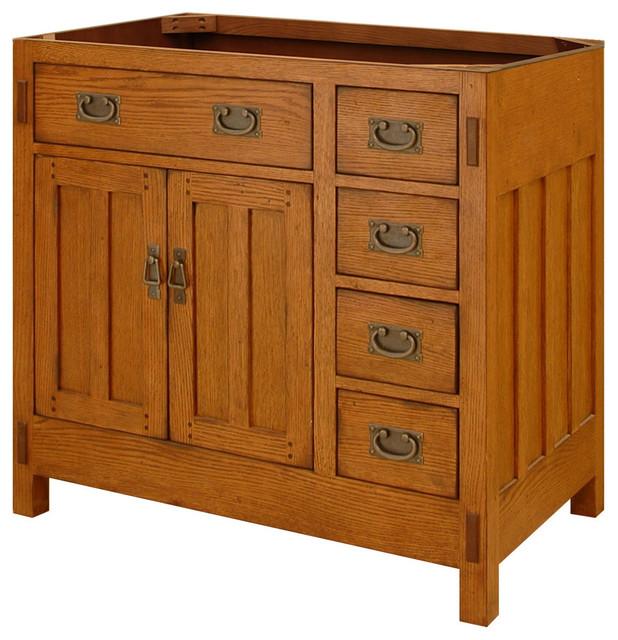 American Craftsman Vanity Rustic Oak Bathroom Vanities And Sink Consoles By Sagehill Designs