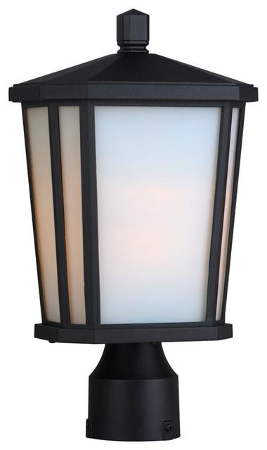 Artcraft lighting ac8773bk hampton black outdoor post for Contemporary outdoor post light fixtures