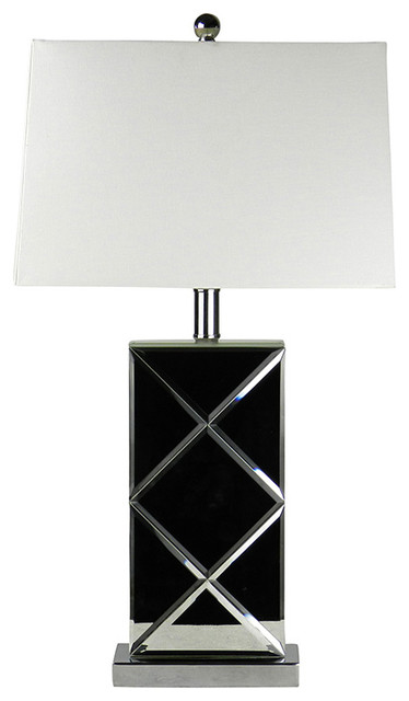 black mirror modern table lamps for living room transitional table