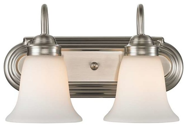 Golden Lighting Brookfield Bath Fixture Pewter Transitional Bathroom Van