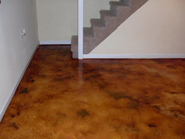 Dark Brown Stained Floors