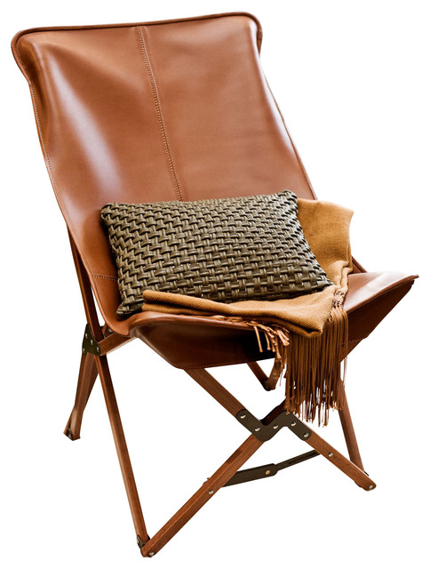 Tripolina Chair, Brown, Leather contemporary-living-room-chairs