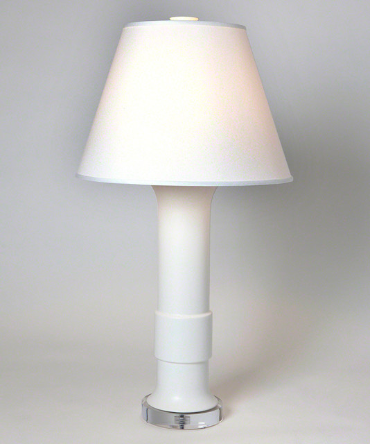 Low Collar Lamp Matte White
