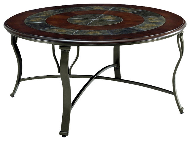 Steve Silver Margarita 3 Piece Coffee Table Set In Cherry Traditional Coffee Table Sets By