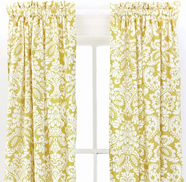 Pine Cone Hill Imperial Damask Citrus Window Panel