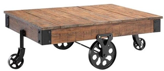 Industrial Maison Coffee Table Eclectic Coffee Tables