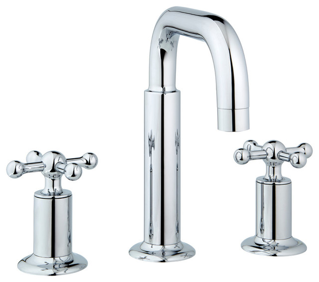 nature widespread faucet knobs and drain polished chrome