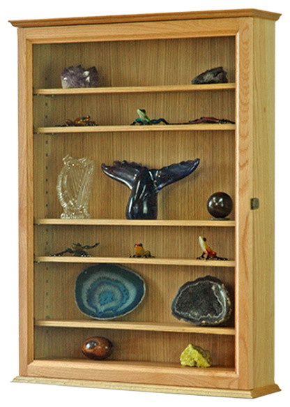 Curio Wall Cabinet, Oak - Traditional - China Cabinets And Hutches - by Fine Wood Display
