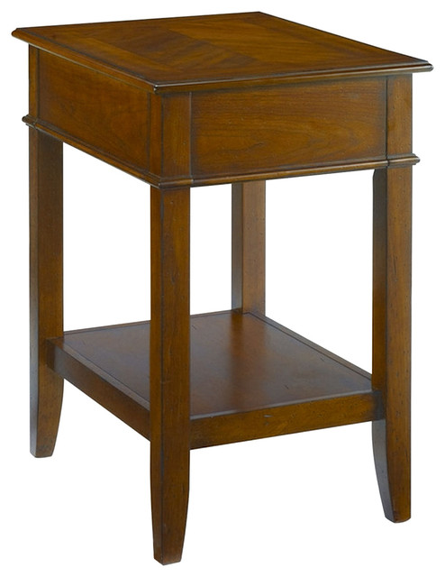 Hammary mercantile corner table in whiskey traditional for Corner side table