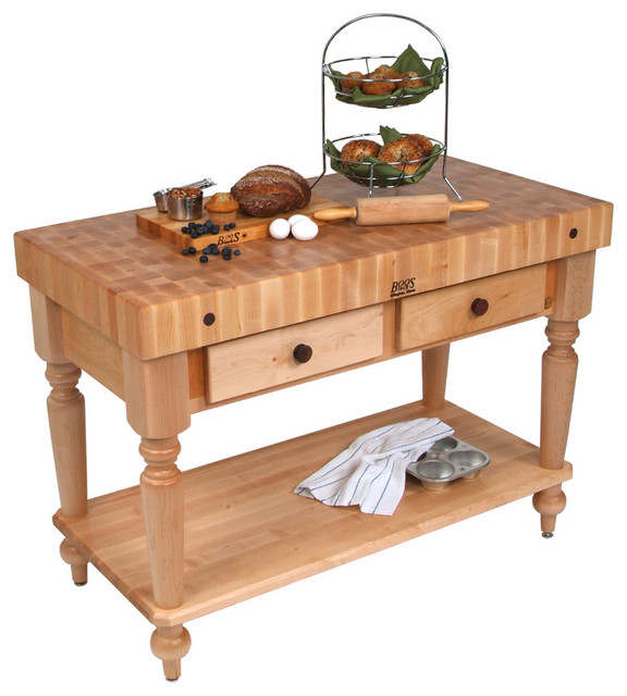 John Boos Maple Rustica Butcher Block With Solid Maple