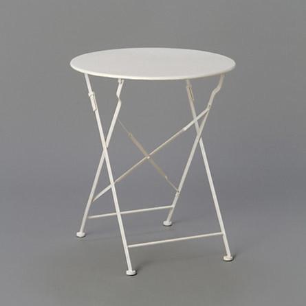Painted metal bistro table   moderne   udendørs caféborde   af terrain