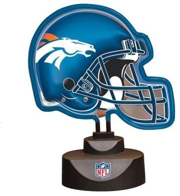 Novelty Lamps Nfl 10 5 In Denver Broncos Neon Helmet