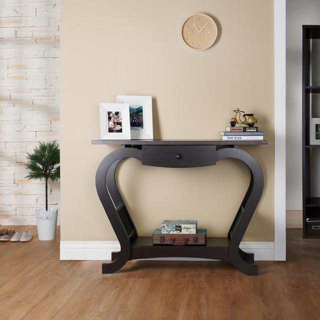 Furniture of america hartleon modern espresso sofa table for Furniture of america sofa table