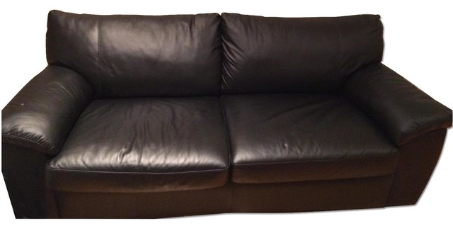 ikea black leather sofa bed sofas new york by aptdeco