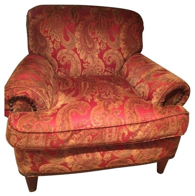 Ej Victor Paisley Club Chair Transitional Armchairs