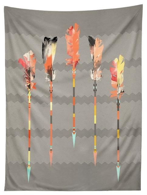 deny designs iveta abolina gray pastel feathers tapestry modern wandteppiche. Black Bedroom Furniture Sets. Home Design Ideas