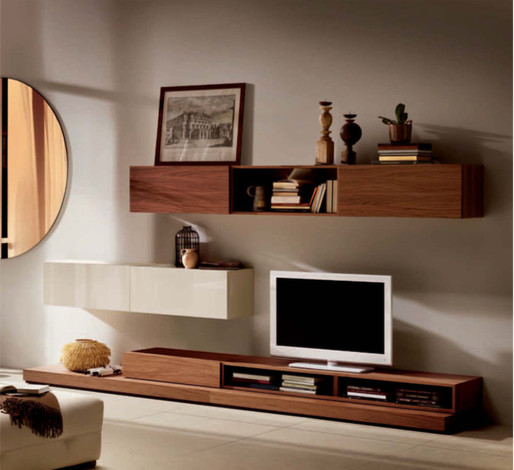Wall System Living Novecento Collection Contemporary