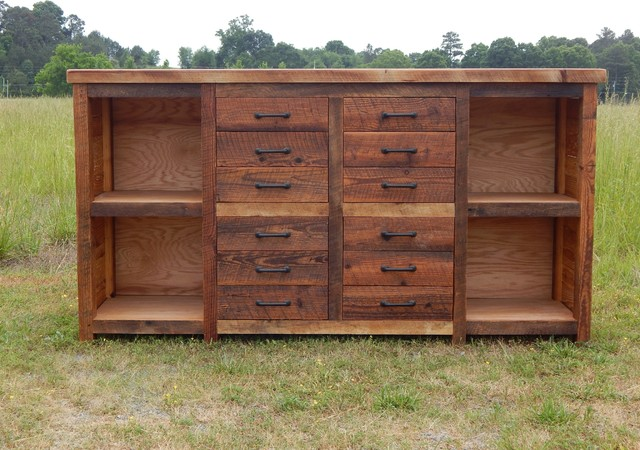 Rusted Nail Drawer/Shelf Cabinet - Rustic - Filing Cabinets - atlanta - by The Rusted Nail