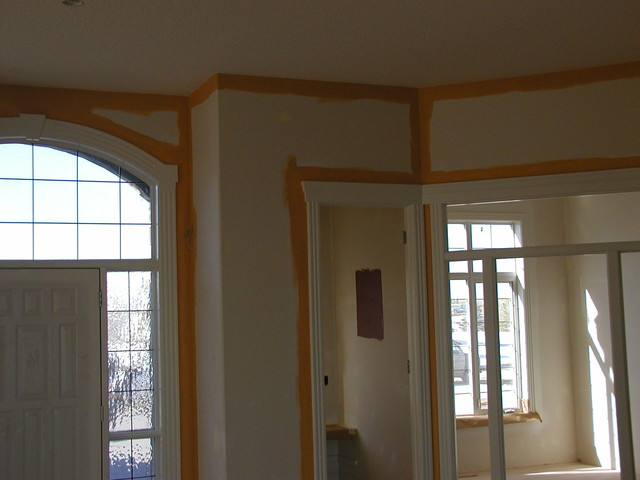 prep and paint walls craftsman calgary by emma. Black Bedroom Furniture Sets. Home Design Ideas
