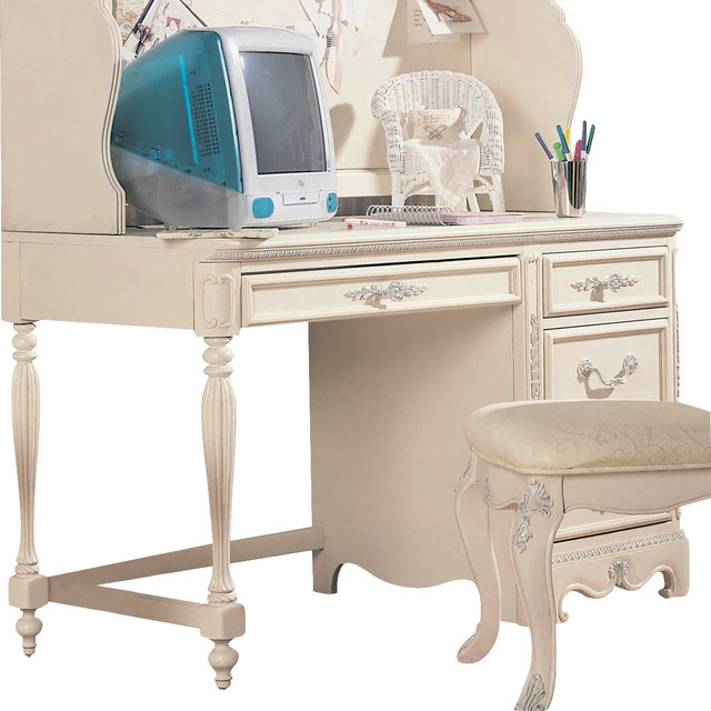 Lea Jessica Mcclintock 3 Drawer Computer Desk In Antique White Traditional Baby And
