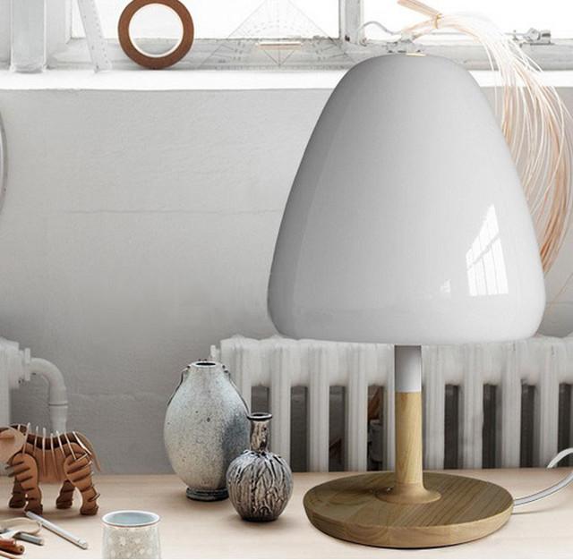 Modern Wood Mushroom Table Lamp Contemporary Table