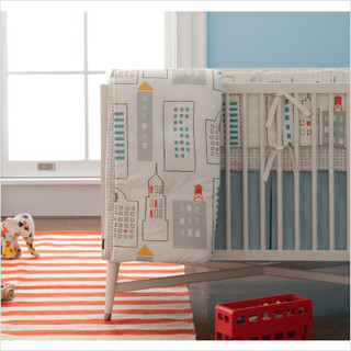 dwellstudio skyline crib bedding collection modern cot