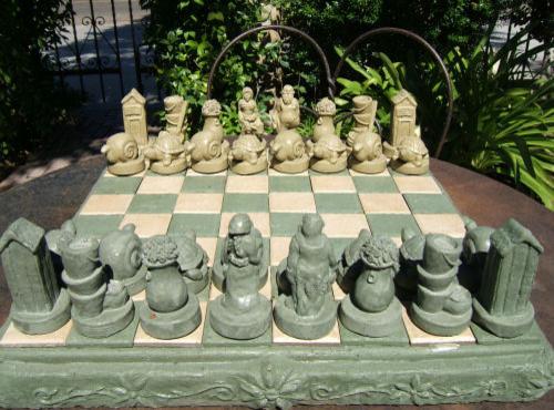 Gardeners Chess Set   Eclectic   Outdoor Decor   Other Metro   By  Accentsinthegarden.com