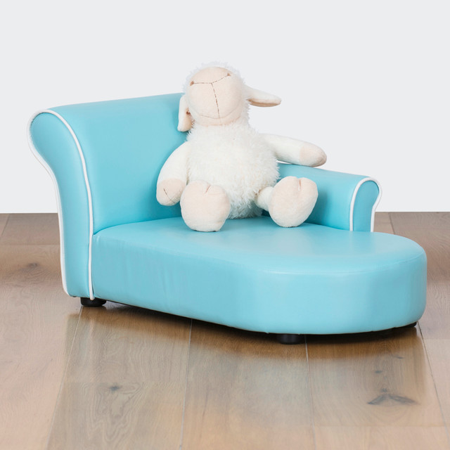 Bambina kids chaise lounge baby blue modern for Baby chaise lounge