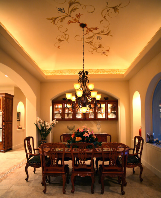 Dining room mediterranean austin by asomoza homes for Dining room 56 willoughby street