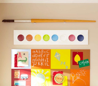 Jumbo Paint Palette And Paint Brush Eclectic Kids Wall