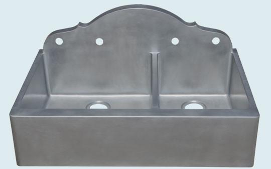 zinc sink handcrafted metal campagne vier de cuisine austin par handcrafted metal. Black Bedroom Furniture Sets. Home Design Ideas
