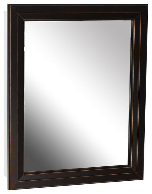 Zenith Bronze Framed Medicine Cabinet - Medicine Cabinets ...